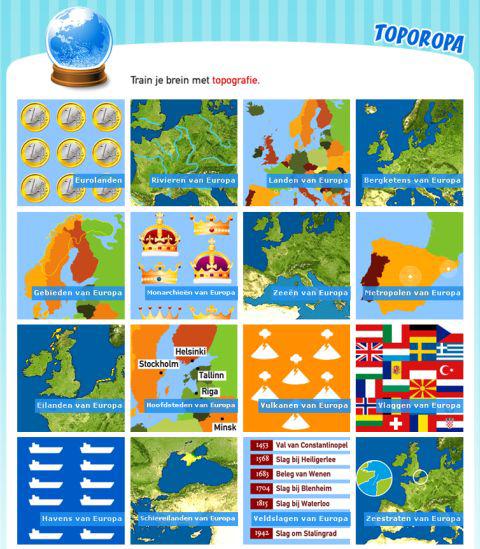 topo europa oefenen