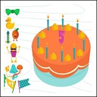 digibord-verjaardagstaart-oranje